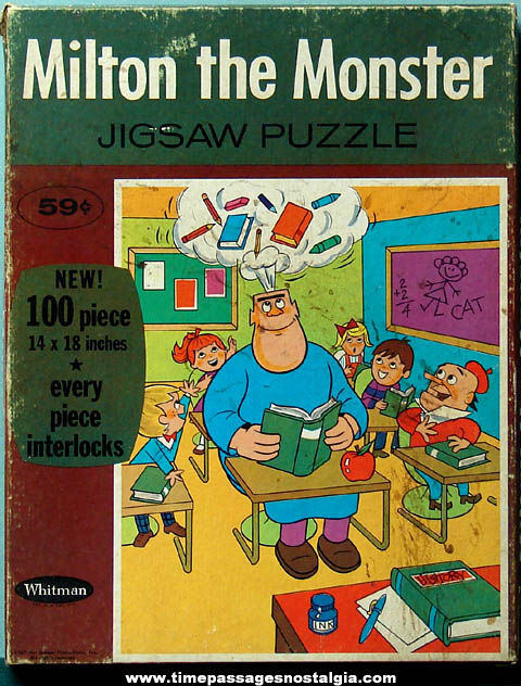 Boxed ©1967 Milton The Monster Cartoon Character Jigsaw Puzzle