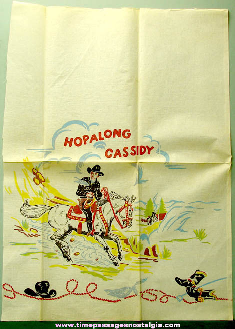 (8) Colorful 1950s Hopalong Cassidy Paper Tablecloth Panels