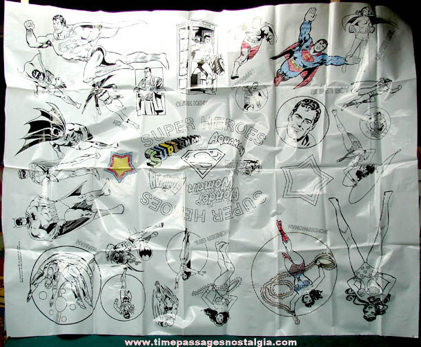 Large ©1978 Super Heroes Character Coloring Cloth