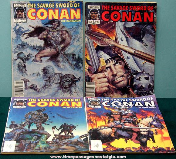 (4) Different ©1985 Conan The Barbarian Marvel Comic Books
