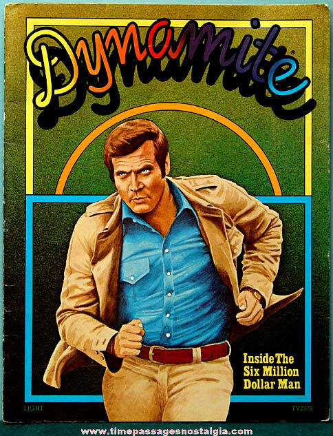 ©1975 Dynamite Magazine with The Six Million Dollar Man + Bonus