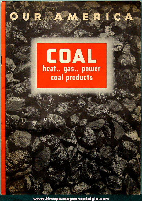 ©1949 Coca Cola Premium Our America Coal Booklet with (20) Colorful Cards