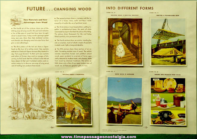 ©1943 Coca Cola Premium Our America Lumber Booklet with (20) Colorful Cards