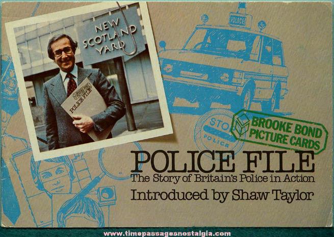 Old Unused Brooke Bond Tea Advertising Premium Police File Card Set Album