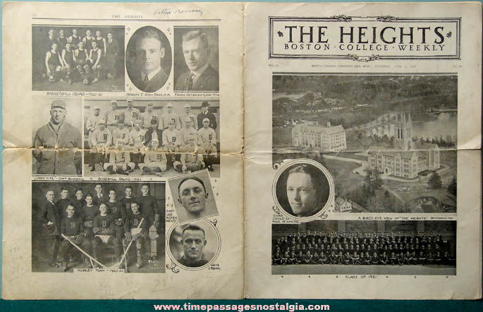 1921 The Heights Boston College Weekly Magazine or Newspaper