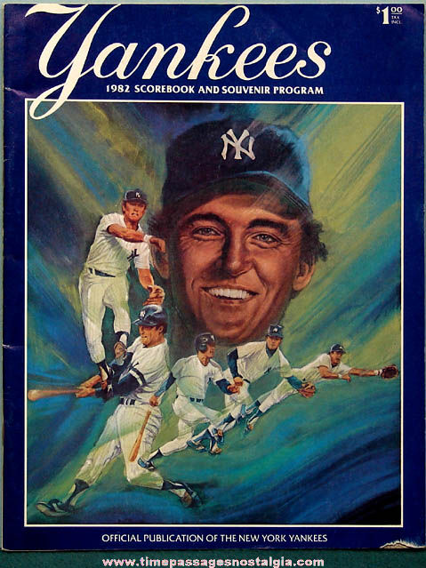 1982 New York Yankees Baseball Scorebook & Souvenir Program