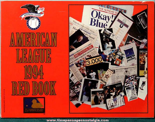 1994 American League Baseball Team Red Book