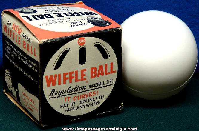Old Boxed Regulation Baseball Size Wiffle Ball