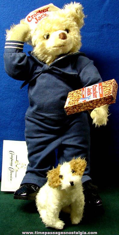 ©1998 Cracker Jack Advertising Bear & Bingo Dog Doll Figure