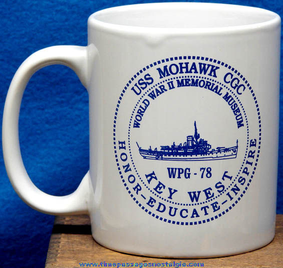 United States Coast Guard U.S.S. Mohawk CGC Ship Advertising Souvenir Coffee Cup