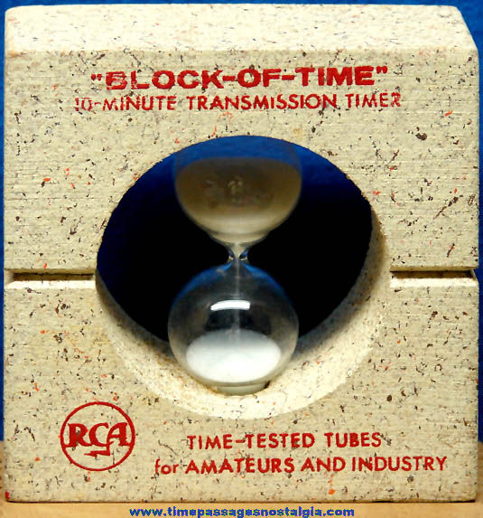 Old RCA Tube Advertising Premium Ten Minute Transmission Timer
