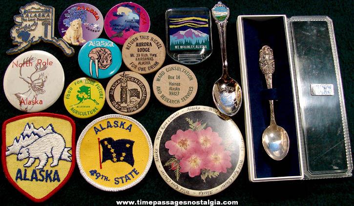 (15) Small State of Alaska Advertising & Souvenir Items