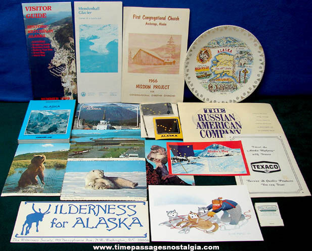 (18) State of Alaska Advertising & Souvenir Items
