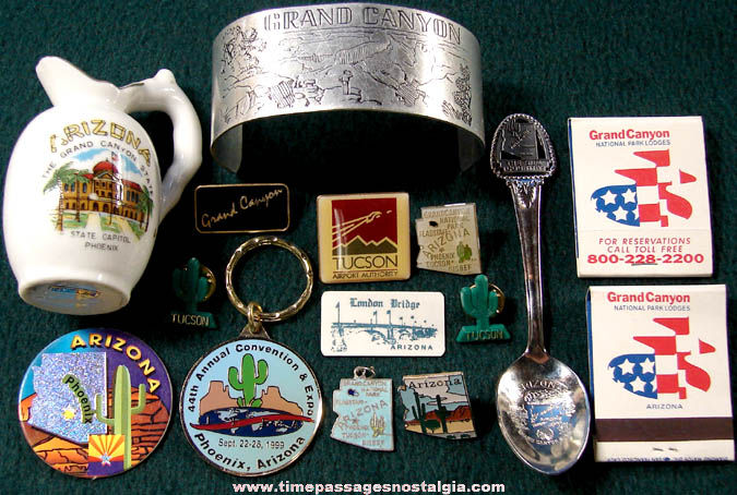 (15) State of Arizona Advertising & Souvenir Items