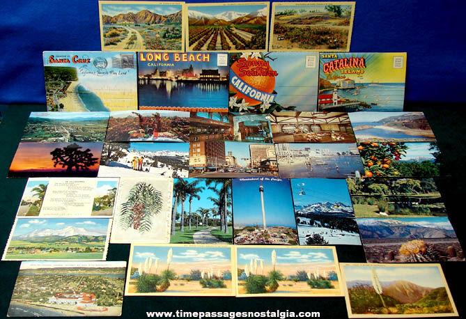 (29) State of California Advertising Souvenir Post Cards & Folders