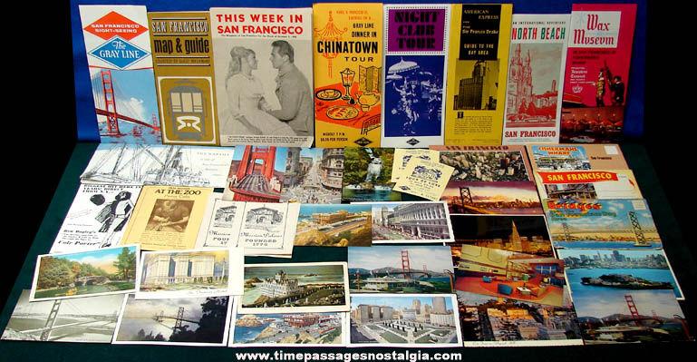 (38) Old San Francisco California Advertising & Souvenir Items