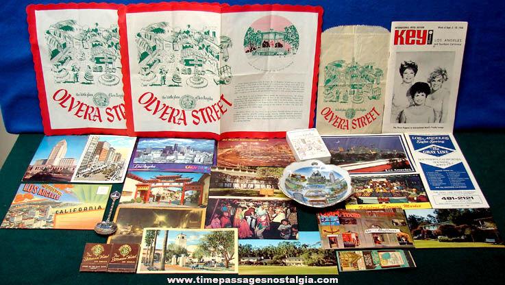 (26) Old Los Angeles California Advertising & Souvenir Items