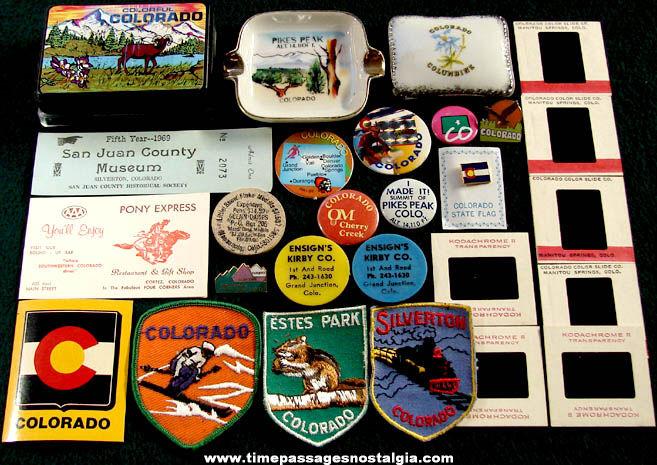 (27) State of Colorado Advertising & Souvenir Items