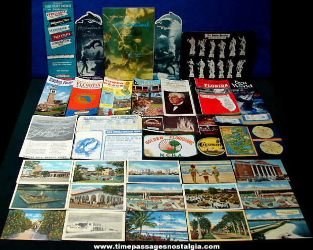 (37) Old State of Florida Advertising & Souvenir Paper Items