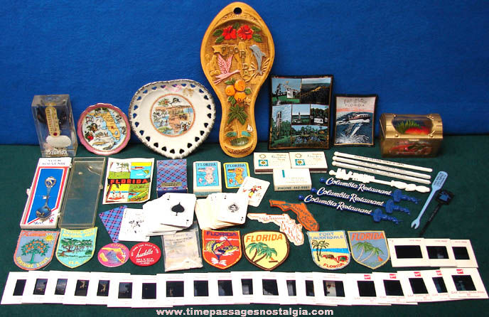 (57) Old State of Florida Advertising & Souvenir Items