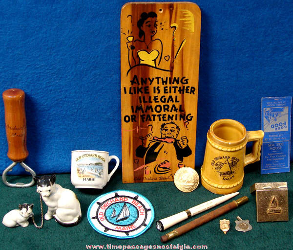 (14) Old Old Orchard Beach Maine Advertising & Souvenir Items