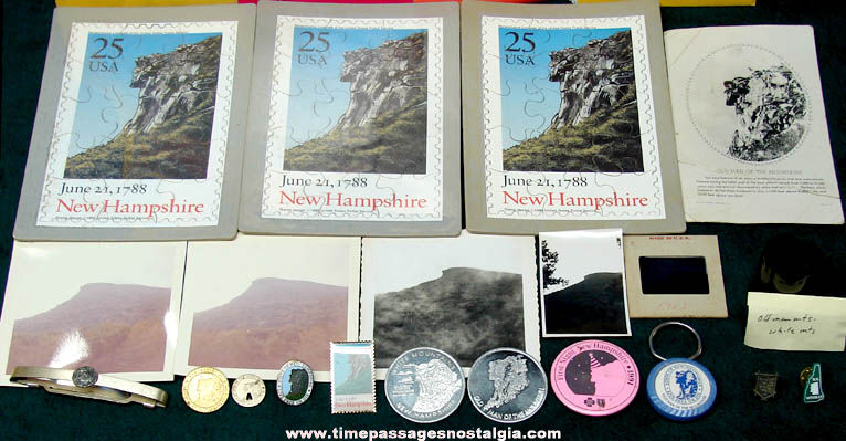 (58) New Hampshire Old Man of The Mountains Advertising & Souvenir Items