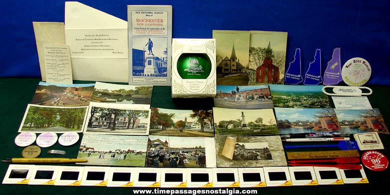 (54) Rochester New Hampshire Advertising & Souvenir Items