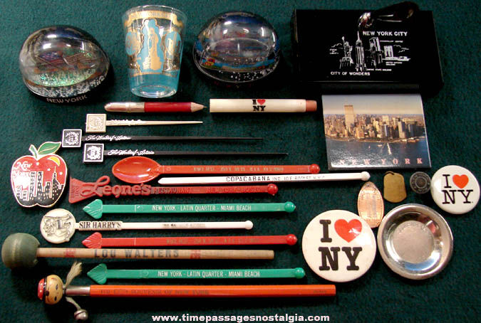 (24) New York City Advertising & Souvenir Items