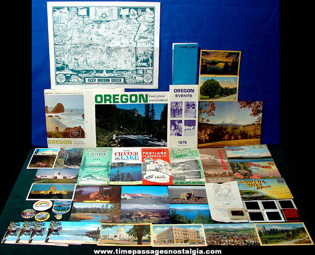 (47) Old State of Oregon Advertising & Souvenir Items