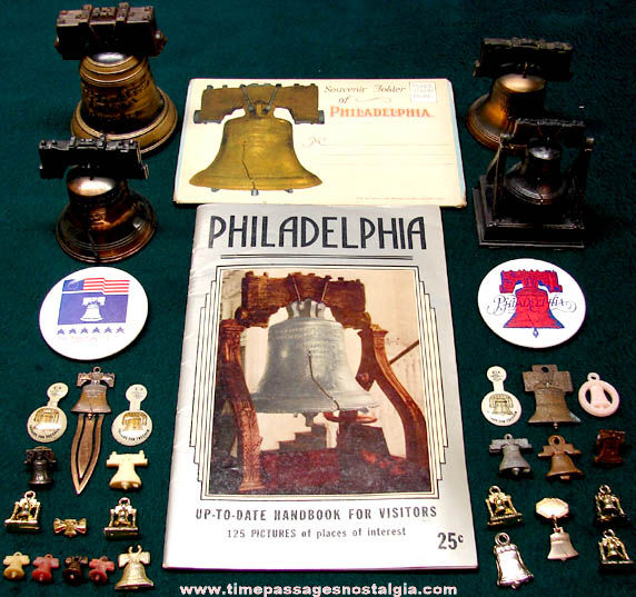 (32) Philadelphia Pennsylvania Liberty Bell Advertising & Souvenir Items