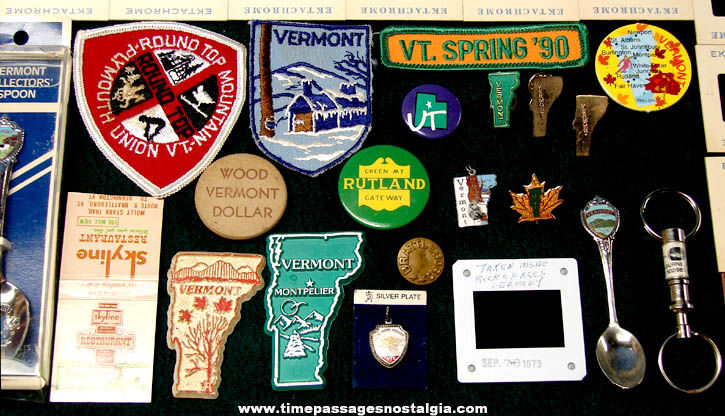 (146) State of Vermont Advertising & Souvenir Items
