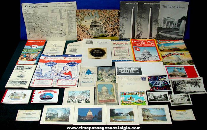 (37) Old Washington D.C. Advertising & Souvenir Paper Items