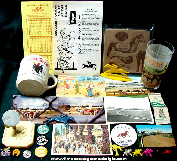 (29) Different Old Horse Racing Related Items