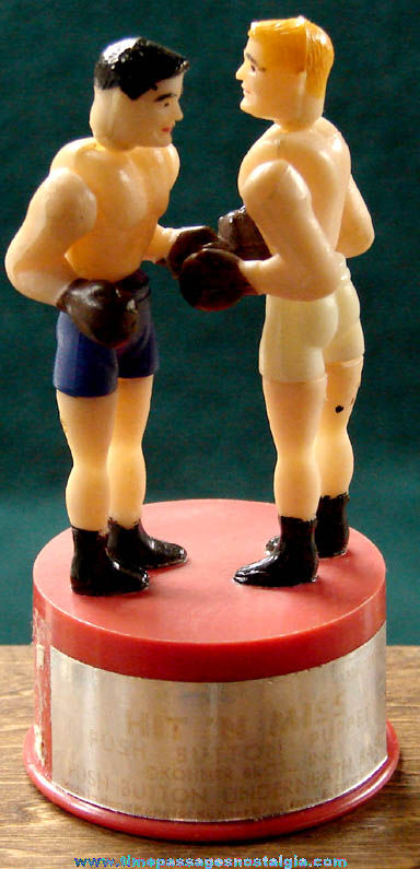 Old Kohner Hit 'n Miss Boxers Mechanical Toy Push Puppet