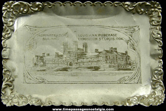 Small 1904 Louisiana Purchase Exposition Advertising Souvenir Tray