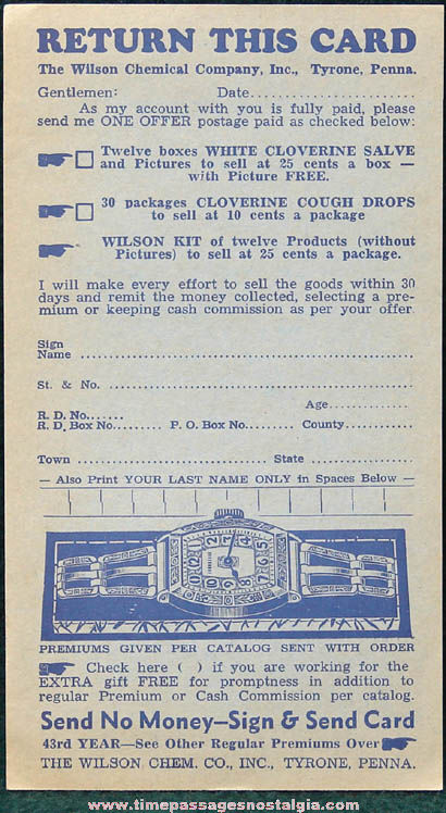 (2) 1930s Company Sales Advertising Premium Mailing Items
