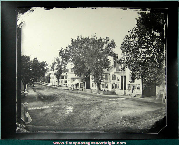 (6) Different Large Old Boston Area Photograph Prints From Glass Slides