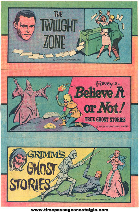 (3) Different 1970s Cereal Prize Comic Books