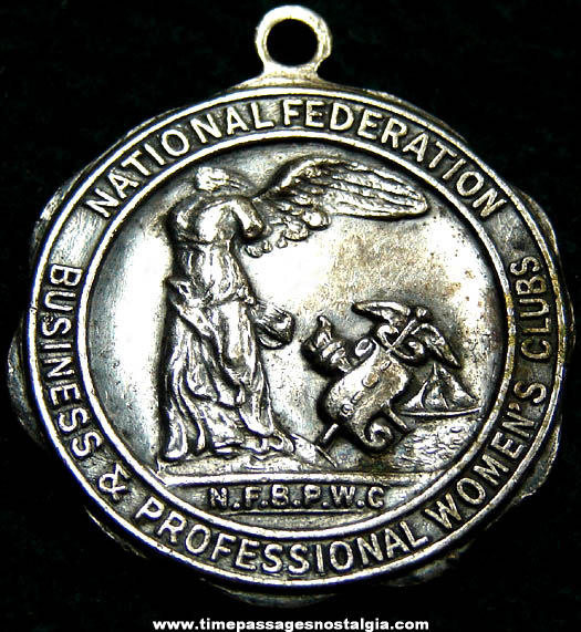 Old National Federation of Business & Professional Women's Clubs Advertising Medallion