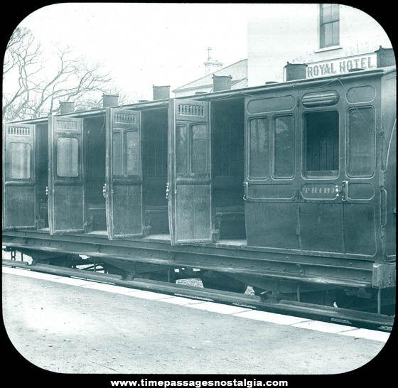 Old Ireland Railway Coaches Queenstown Magic Lantern Photograph Slide