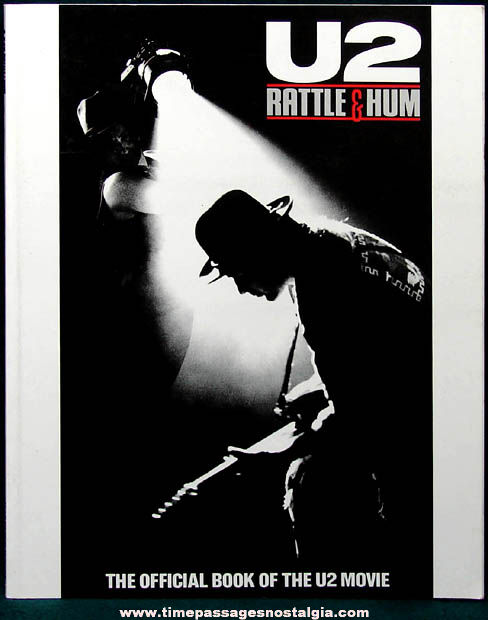 ©1988 U2 Rattle & Hum Official Book To The U2 Movie