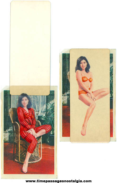 Old Risque Novelty Stripping Woman Slide Card