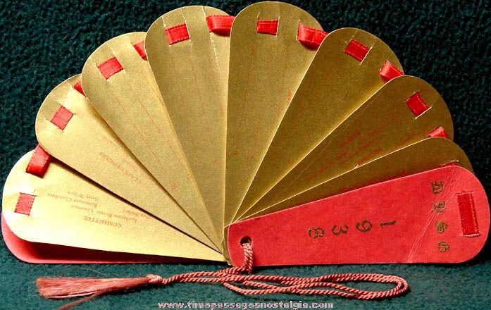 1938 Dorchester High School For Girls Senior Promenade Advertising Dance Card Fan
