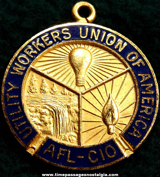 Old Utility Workers Union of America Advertising Fob or Pendant Charm