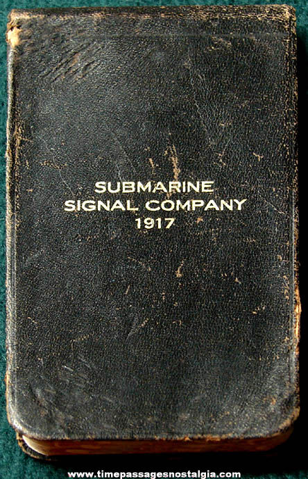 1917 Submarine Signal Company Advertising Premium Calendar and Diary Booklet