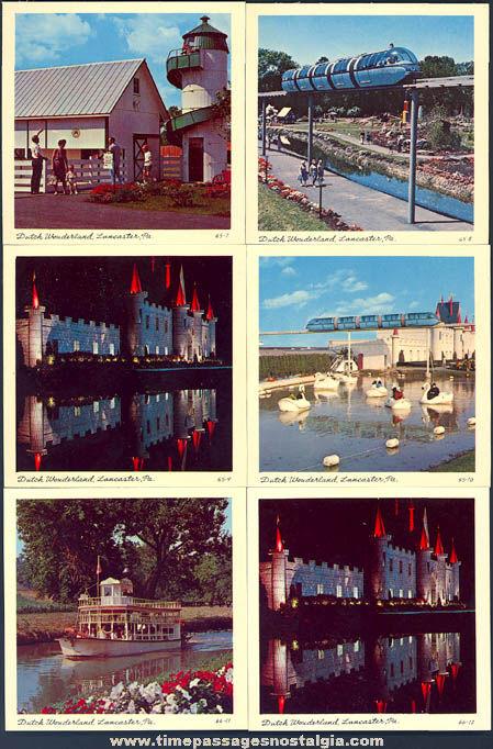 (12) 1965 Dutch Wonderland Amusement Park Advertising Souvenir Color Photographs