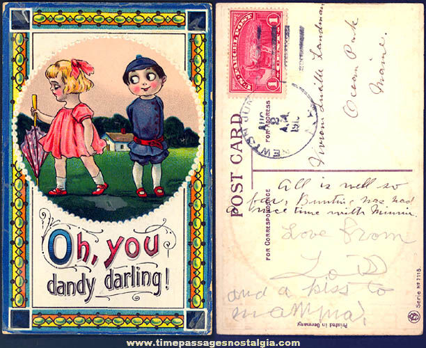 1910 Colorful Strange Comic or Cartoon Character Post Card