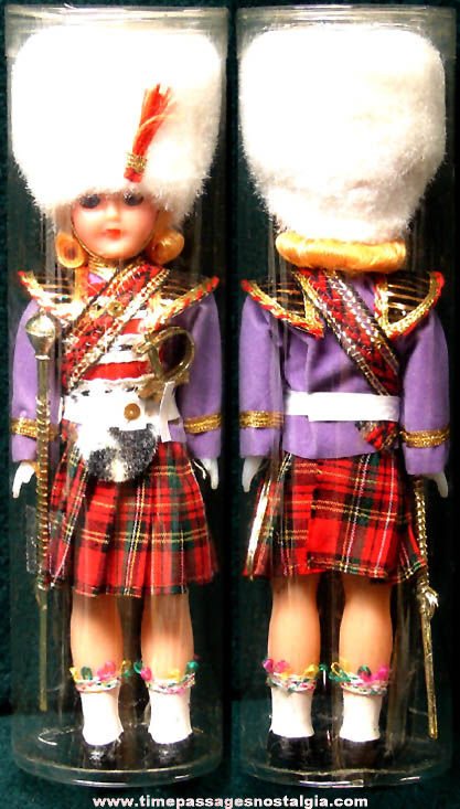 1976 Dressed White Busby Drum Major Souvenir Toy Doll