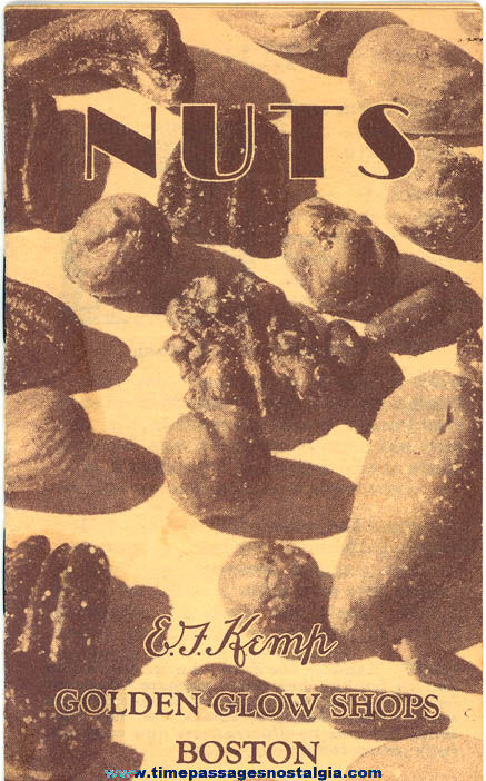 Small ©1929 E. F. Kemp Nuts Golden Glow Shops Advertising Souvenir Booklet