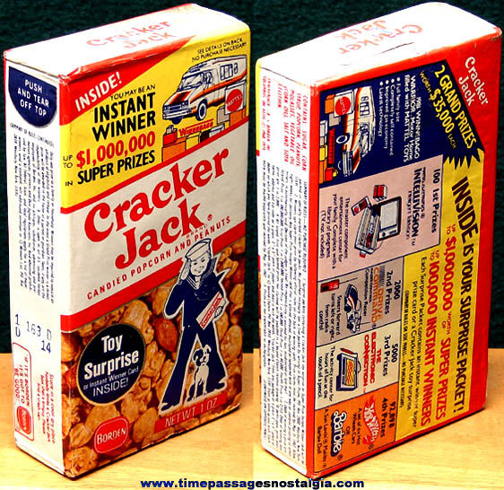 Unopened 1981 Cracker Jack Pop Corn Confection Contest Box